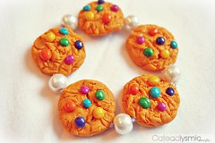 Candy Cookie Bracelet ( Cateaclysmic ) Tags: cookie candy handmade crafts clay smarties bracelet etsy polymer