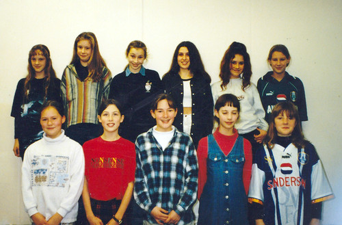 1996 Snow White and the seven dwarfs 10 (back from left Victoria O'Mara, Gemma Pepper, Elizabeth Buckley, Gemma Sumner, Jayne Bridges, Helen Marsh, front Hazel Smith, Katie Rowley, Carly Redgate, Lauren Wall, Lucy Parker)