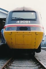 Photo of 19900505 105 Fishguard Harbour. 43081 Hertfordshire Railtours 'The Pembroke Coast Express'
