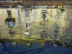Milano Naviglio Grande (Ruggero Rdiger  ) Tags: reflection italia milano spiegelung navigli  mailand grandi