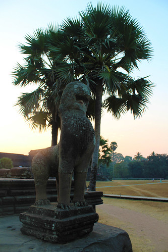 The lion guard at Angkor Wat (Chetra Chap, 2012).