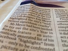 Reading @meyerweb's name in the paper again. This time it's an article in The Independent on Facebook.