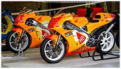 600D-3826-200 (ac | photo) Tags: orange classic yellow race vintage honda motorcycle endurance spa motorbikes vintagebike spafrancorchamps bikersclassics