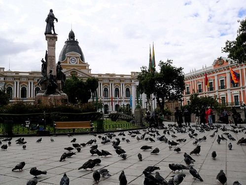 Recorriendo el centro de La Paz
