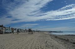 California Beach (trailwalker52) Tags: california beach sand bluesky lifeguard newportbeach californiabeach