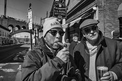 Philadelphia, 2015 (Alan Barr) Tags: street people blackandwhite bw philadelphia monochrome mono blackwhite candid sony streetphotography sp streetphoto manayunk 2015 nex7