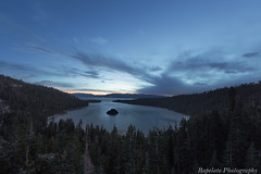 Blue Emerald Dawn (Jared Ropelato) Tags: california trees jared sky lake clouds forest sunrise landscape photography dawn natural nevada tahoe sierras emerald emeraldbay ropelato jaredropelato laketahoek