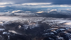 Loch Lee (GDDigitalArt) Tags: uk sunset sky snow mountains clouds plane scotland flying aberdeenshire flight hills snowcapped peaks height cairngorms lochlee d810