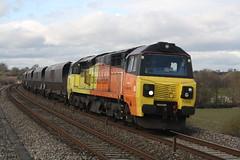 70809 @ Charfield 25/02/15 [4V14] (MattWardrobe) Tags: new yard rail terminal class gloucester coal 70 freight 1434 colas 70809 portbury 4v14 250215