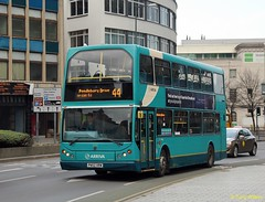 Arriva 4745 DAF (Copy) (focus- transport) Tags: road bus public buses streetlight leicestershire leicester transport east gemini midlands enviro arriva wrightbus e400