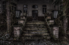 scary stairs (Rainer Schund) Tags: road camera old trip school windows light urban color art abandoned rotting beautiful beauty architecture stairs photoshop germany dayofthedead deutschland death photo still interesting scary nikon europe die photographer shadows silent darkness dynamic decay live empty exploring awesome explorer ruin corridor atmosphere thueringen thuringia best adventure forgotten vacant processing rusting waste exploration gym schloss derelict labyrinth retouching decayed verlassen castell buillding urbex disappear verfall rework ahnen photomatix interetingness fision