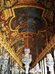 Hall of Mirrors (nwaldy) Tags: roof paris france painting french hall nicole europe tour artistic room mirrors palace chandelier versailles ballroom chandeliers waldern of nwaldy
