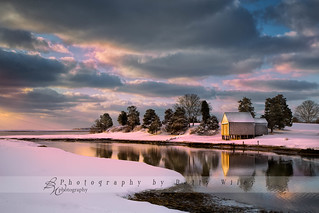 Salt Pond Boathouse in Winter