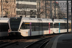 Thurbo => Die Regionalbahn ( SBB ) GTW RABe 2/6 526 724 - 0 mit Taufname Conny - Land  Express ( Connyland => Gelenk - Triebwagen - Nahverkehrszug => 2 - Teilig => Hersteller Stadler Rail ) am Bahnhof St. Gallen im Kanton St. Gallen in der Schweiz (chrchr_75) Tags: chriguhurnibluemailch christoph hurni schweiz suisse switzerland svizzera suissa swiss chrchr chrchr75 chrigu chriughurni mrz 2015 chriguhurni albumbahnenderschweiz albumbahnenderschweiz201516 schweizer bahnen eisenbahn bahn train treno zug albumzzz201503mrz albumbahnthurbo thurbo regionalbahn tralin juna zoug trainen tog tren  lokomotive  locomotora lok lokomotiv locomotief locomotiva locomotive railway rautatie chemin de fer ferrovia  spoorweg  centralstation ferroviaria