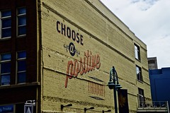 Choose a Positive Thought - Milwaukee WI (Meridith112) Tags: summer brick art june wisconsin nikon mural midwest historic brickwall milwaukee wi buffalostreet ghostsign thirdward historicdistrict 2016 historicthirdward mercantilebuilding 2013 nikon2485 chooseapositivethought positivephotography nikond610 alllivesmatter bluelivesmatter supportpolice supportourpolice fredzabel