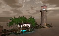 Hideaway Paradise (texangelNoel) Tags: lighthouse rock club marina airplane outdoors dance airport ship romance biker hideaway helipad biketrack reverendzombie