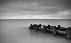 The Pipe (hall1705) Tags: blackwhite beach pipe longexposure sea westsussex d3200 clouds coast seaside seascape middleton