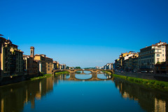 Still Waters of Florence (Nathan Clemente Photography) Tags: reflection water architecture canon florence bridges rebelxsi