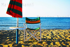 Rimini Mare 57 (Massy-Rimini) Tags: italy italia rimini summer estate beach mare spiaggia sand sabbia umbrella ombrellone sole sun sunset tramonto chair sedia water acqua orizzonte vacanze holiday relax