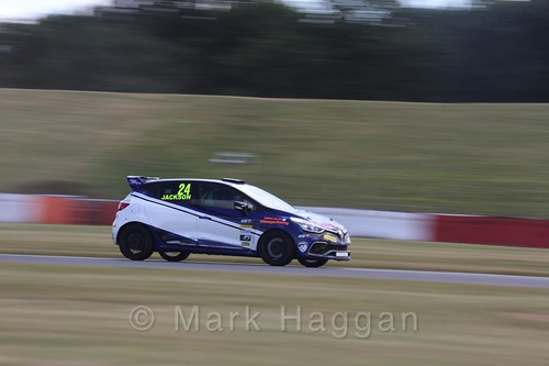 George Jackson in the Clio Cup during the BTCC 2016 Weekend at Snetterton