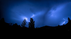 Lightning from Lausanne (kichetof) Tags: éclairs lightning orage