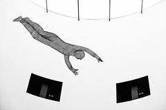 High Flier (cotswoldman) Tags: monochrome mono blackandwhite blancoynegro blancetnoir noiretblanc abstract artistic art sculpture oceanterminal leith edinburgh shoppingcentre scotland gloucestercameraclub