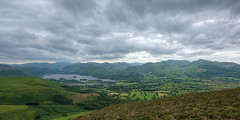 Cloudy Keswick from Skiddaw (Non Paratus) Tags: keswick skiddaw mountains lakedistrict cumbria england uk landscape lake derwentwater clouds cloudy panorama