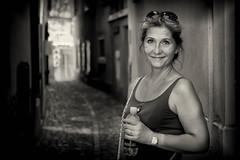 Zurich - Altstadt (Bo Hvidt) Tags: portrait blackandwhite bw blackwhite fuji zurich fujifilm altstadt xt1 fujifilmxt1 xf35mmf2 fujinonxf35mmf2rwr