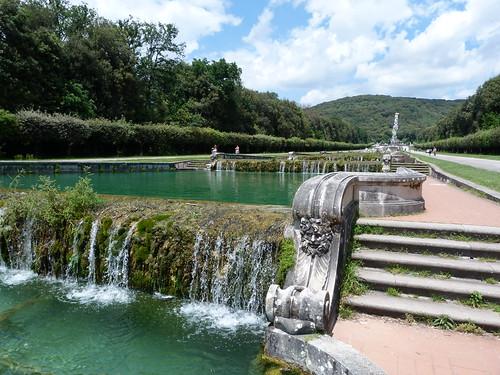 Reggia Caserta - Bourbon royal palace, water cascade, upper reaches.