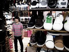 shoe store (-{ ThusOriginal }-) Tags: 2009 china city color digital grd3 grdiii people ricoh shanghai shoe shop street thusihaveseen winter woman