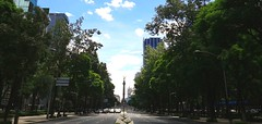 Mexico City (israhelorthiz) Tags: avenue skyline sky blue street summer city day architecture development environment urbanism