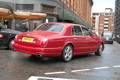 Bentley Arnage T (D's Carspotting) Tags: red london t united kingdom bentley arnage 20110618 xrr459