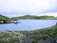 At nature - lake on mountain top. (topzdk) Tags: norway mc motorcycle honda bmw 2016 summer austagder vestagder nature