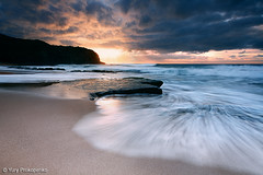Dramatic Sunrise at Turimetta Beach (renatonovi1) Tags: beach sunrise dramatic sea ocean water wave swellsurf sand rock sky clud sun light nature coast seascape landscape turimetta sydney nsw australia