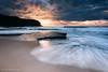 Dramatic Sunrise at Turimetta Beach (renatonovi1) Tags: beach sunrise dramatic sea ocean water wave swellsurf sand rock sky clud sun light nature coast seascape landscape turimetta sydney nsw australia