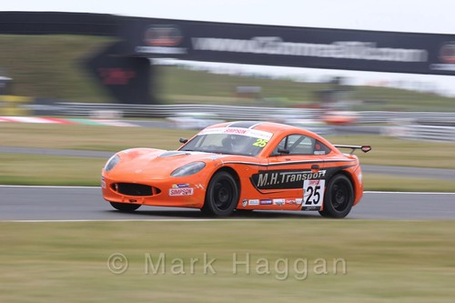 Connor Grady in Ginetta Junior Racing during the BTCC 2016 Weekend at Snetterton