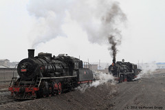 I_B_IMG_8200 (florian_grupp) Tags: asia china steam train railway railroad bayin lanzhou gansu desert landscape loess mountains sy ore mine 282 mikado steamlocomotive locomotive