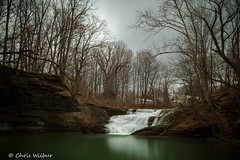 Walnut Falls - Forestville, NY (awaketoadream) Tags: winter cloudy ny usa long waterfall falls cascade exposure america new american york walnut complex forestville