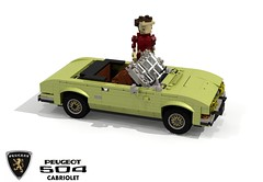 Peugeot 504 Cabriolet (Pininfarina 1970) (lego911) Tags: peugeot 504 cabriolet 1970 1970s pininfarina coachbuilt classic auto car moc model miniland lego lego911 ldd render cad povray france french lugnuts challenge 107 saturdaymorningshownshine saturday morning show n shine