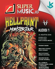 Hellprint adalah festival musik metal terbesar se-Asia memberi kesempatan untuk kalian yang ingin bermain di Hellprint melalui audisi di Kota Serang untuk wilayah Cilegon, Rangkas Bitung, Merak, Anyer, Pandeglang, Labuan dan cikande . live audisi diadakan (kotaserang) Tags: ifttt instagram hellprint adalah festival musik metal terbesar seasia memberi kesempatan untuk kalian yang ingin bermain di melalui audisi kota serang wilayah cilegon rangkas bitung merak anyer pandeglang labuan dan cikande live diadakan post music studio pendaftaran bisa maestro atau ke nomer sudah tertera flayer come join