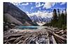 Moraine Lake, Banff National Park, (PhotoDG) Tags: morainelake banffnationalpark albertacanada alberta canada icefieldparkway rockymountains canadianrockies banff lake colour glacier glacierfed landscape moraine nationalpark wideangle