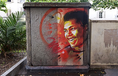 Mohamed Ali (HBA_JIJO) Tags: streetart urban graffiti pochoir c215 stencil art france artist christiangumy hbajijo painting peinture portrait celebrity paris94 paris93 spray pochoiriste coffret armoire boxe sport vincennes mohamedali