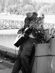 Singing on a Sunny Day- Lauren MacFarland, BCIT Journalism (laurenmacfarland) Tags: streetphotography busking coalharbour vancouver downtownvancouver bcitvisualfundamentals candidphotography