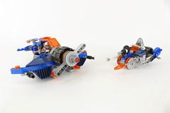 "Lance's Plane & Trike - LEGO NEXO KNIGHTS 70312 MOC (""grohl"") Tags: plane flying vehicle wwii ww2 fighter lego nexo knights moc futuristic alternate cmodel"