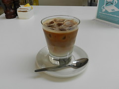 Iced Cappuccino, Weston Library, Oxford Sep 2016 (allanmaciver) Tags: cappuccino iced drink cool wait sit enjoy bitter water cubes cold spoon cup allanmaciver oxford england