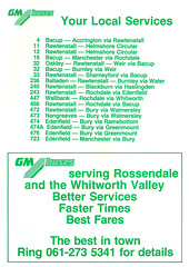 GM Buses Rossendale Area Bus Guide 26101986 List of Services (Rossendalian2013) Tags: bus deregulation rossendale lancashirecountycouncil tendered gmbuses timetable booklet