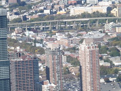 Aerial View, Autumn Colors, Harsimus Branch Embankment, Jersey City, New Jersey (lensepix) Tags: aerialview autumncolors harsimusbranchembankment jerseycity newjersey harsimusstemembankment oneworldobservatory