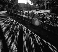 Shadow Play (PeskyMesky) Tags: aberdeen rosemountviaduct rosemount shadow lowsun sunrise sunset flickr monochrome bw blackandwhite canon canoneos500d