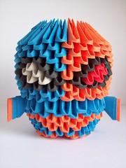 Deathstroke (lesandxf) Tags: dc comics dccomics batman comic origami 3dorigami handmade crafts papercrafts handmadecrafts