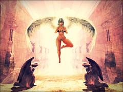Engel (v.messalina) Tags: secondlife photomanipulation pile up pileup edited angel engel light good goodness bikini wings